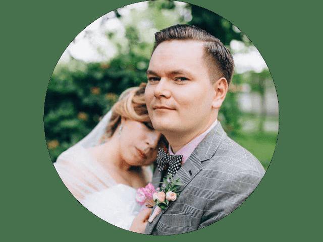 Ольга и Алексей<br>Хмелевские<br>молодожены из Минска